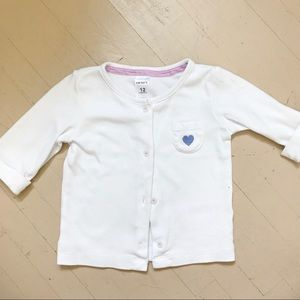 White Carter's Sweater (12 months)